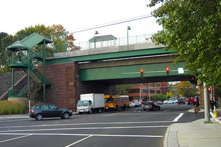 Arch Street Bridge and Greenwich Train Station