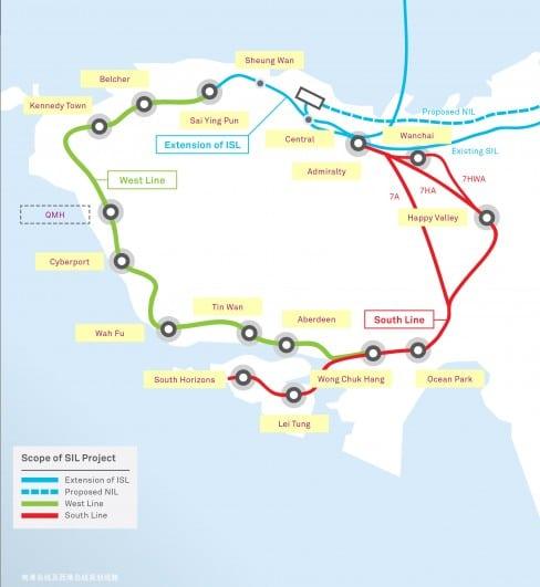 Hong Kong South Island Line & West Island Line Feasibility Study