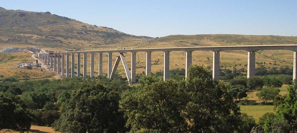 View of Arroyo del Valle Viaduct