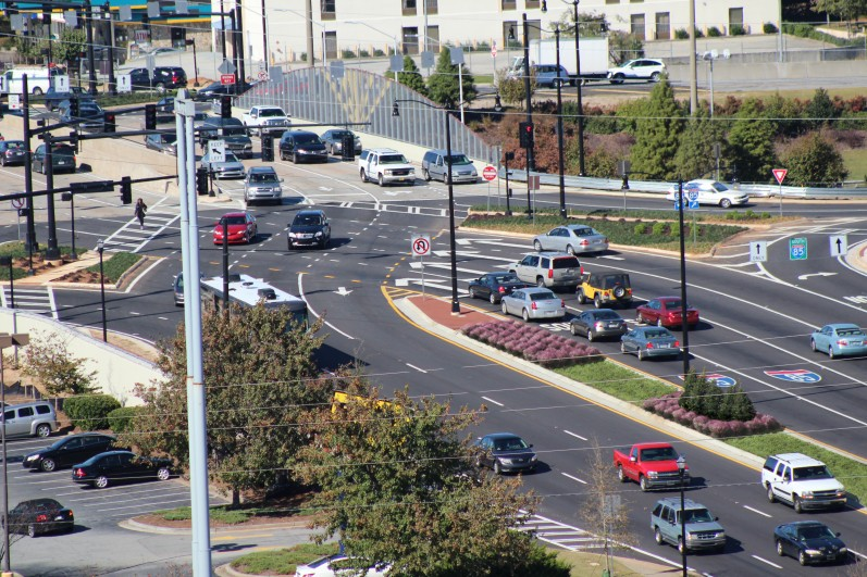 Pleasant Hill Road over I-85 Diverging Diamond Interchange