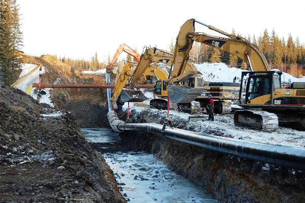 Pipeline Installation near Bonnyville, Alberta