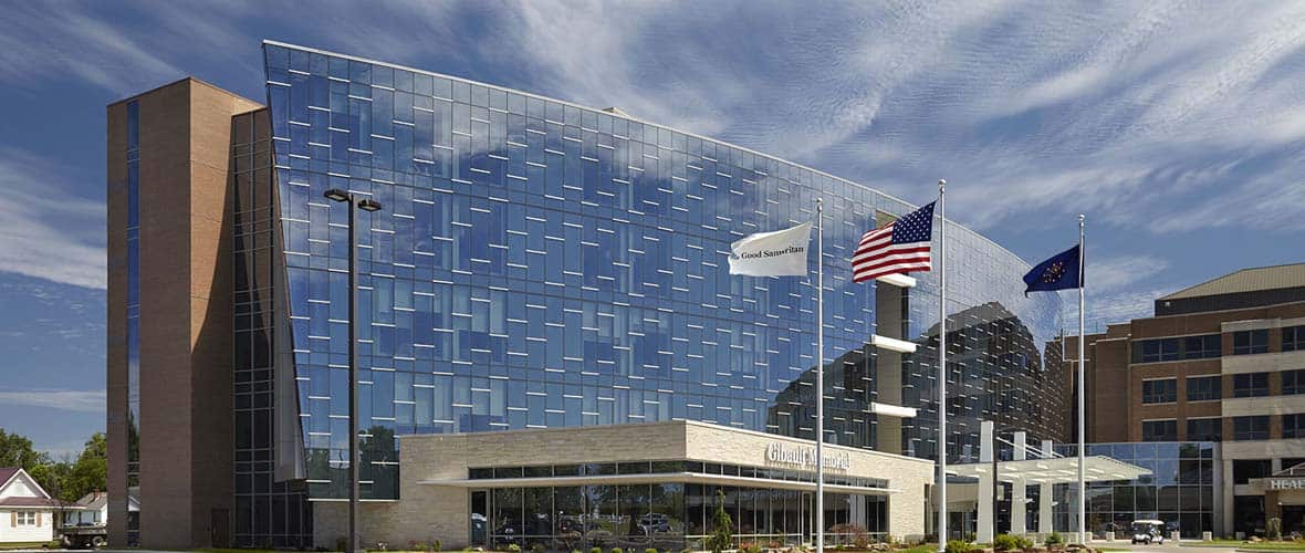 Good Samaritan Hospital - The BEACON Project, a complex hospital addition including a new cardiac center, energy plant, and support services buildings
