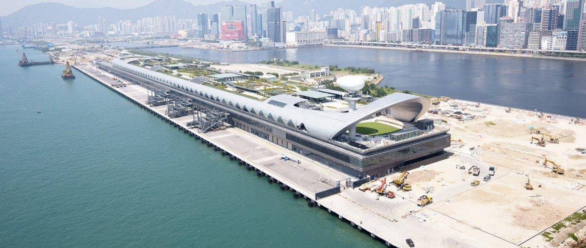 Rendering of the Kai Tak Cruise Terminal