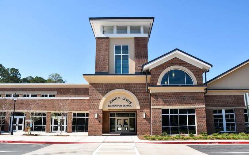 Schools that use prototypes, such as the DeKalb County School District's John R. Lewis Elementary School (pictured here), can stretch school district dollars while advancing educational equity.