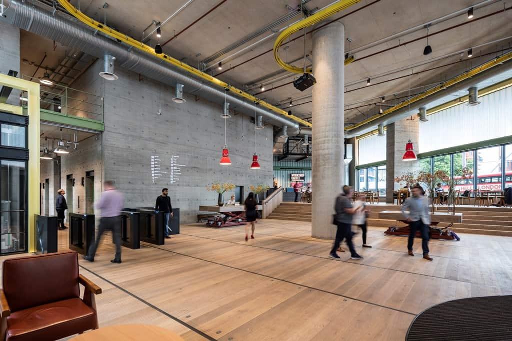 White Collar Factories reception area