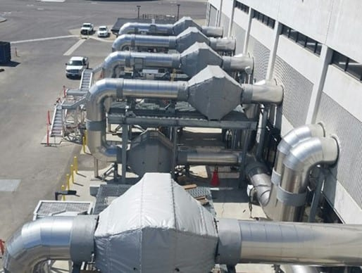 AECOM Civil Construction specialty contractor SCCI Electric performed the J-111 Central Generation Emission Controls project, a retrofit of the digester gas engines at Plant No. 1 and Plant No. 2 to comply with South Coast Air Quality Management requirements.