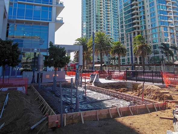 AECOM Civil Construction specialty contractor SCCI Electric performed the Traction Power Substations Installation project along the Metropolitan Transit System (MTS) Trolley Orange and Blue lines.