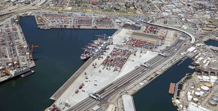 AECOM (legacy Shimmick) performed the Port of Los Angeles Berth 142-147 project, which comprised the construction of an intermodal container transfer facility (ICTF).