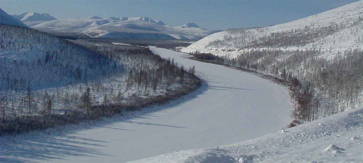 Snow-covered terrain