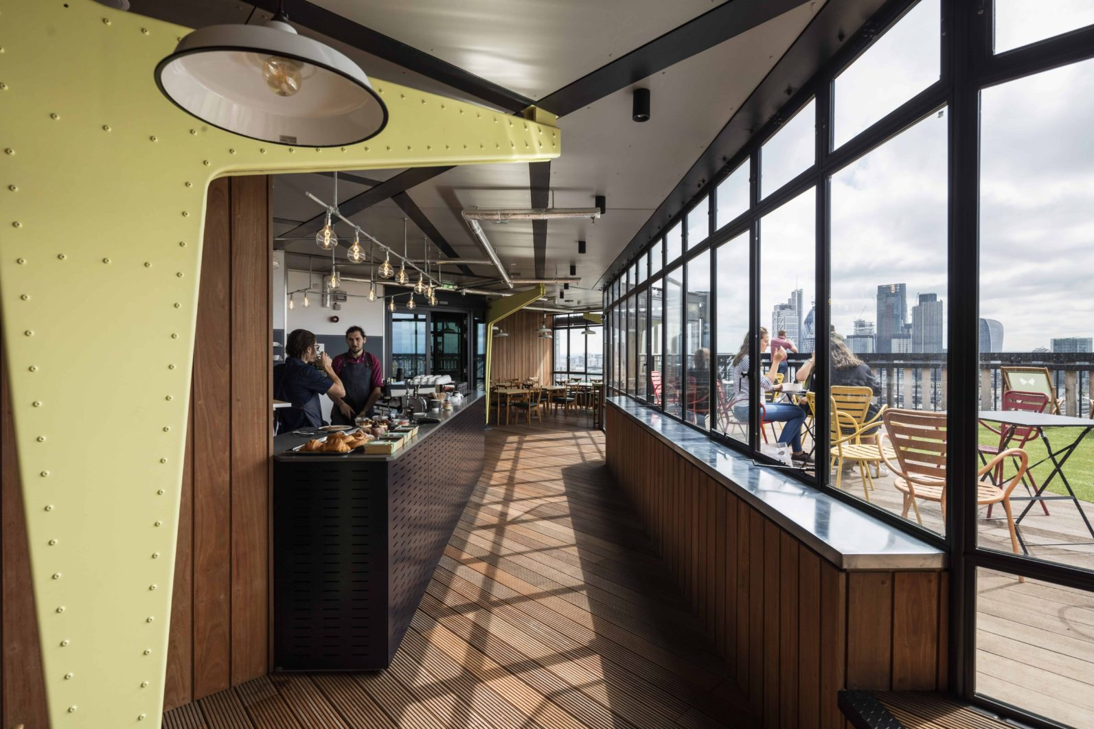 White Collar Factory rooftop cafe and venue space