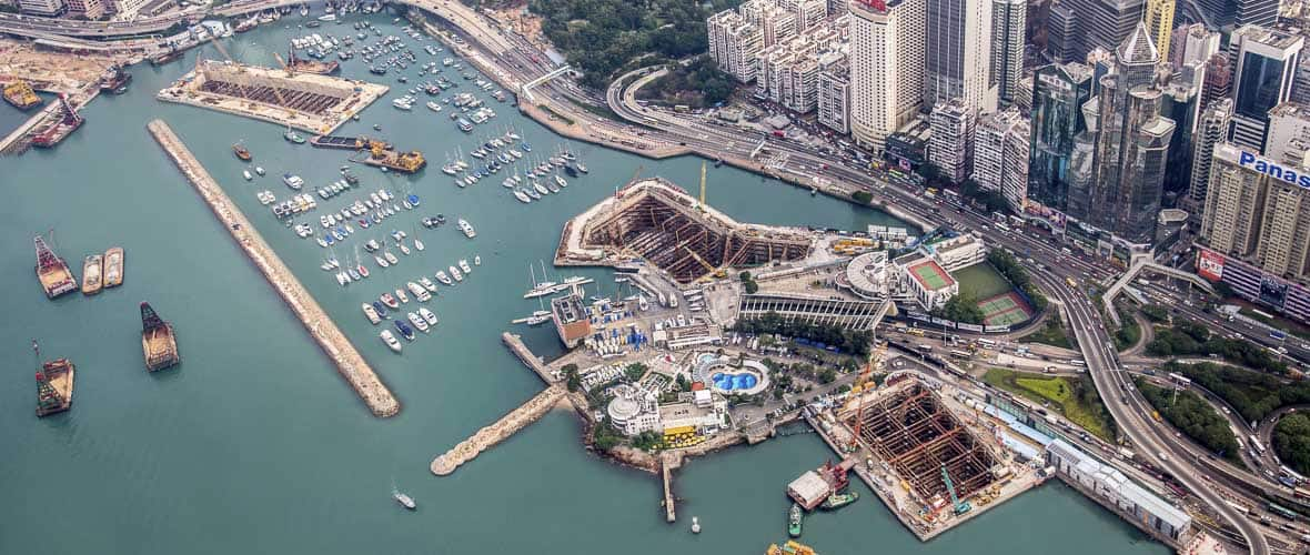 Aerial photo of the Central-Wan Chai Bypass and Island Eastern Corridor Link
