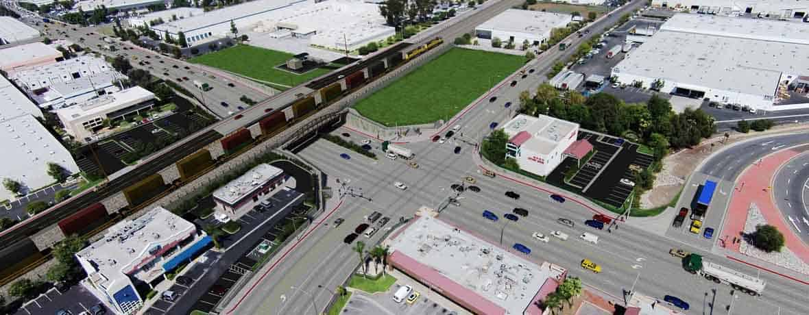 The Fullerton Road Grade Separation is a complex 5-stage project with 19 phases of construction. AECOM (legacy Shimmick Construction) is performing the project, which is scheduled for completion in 2020.