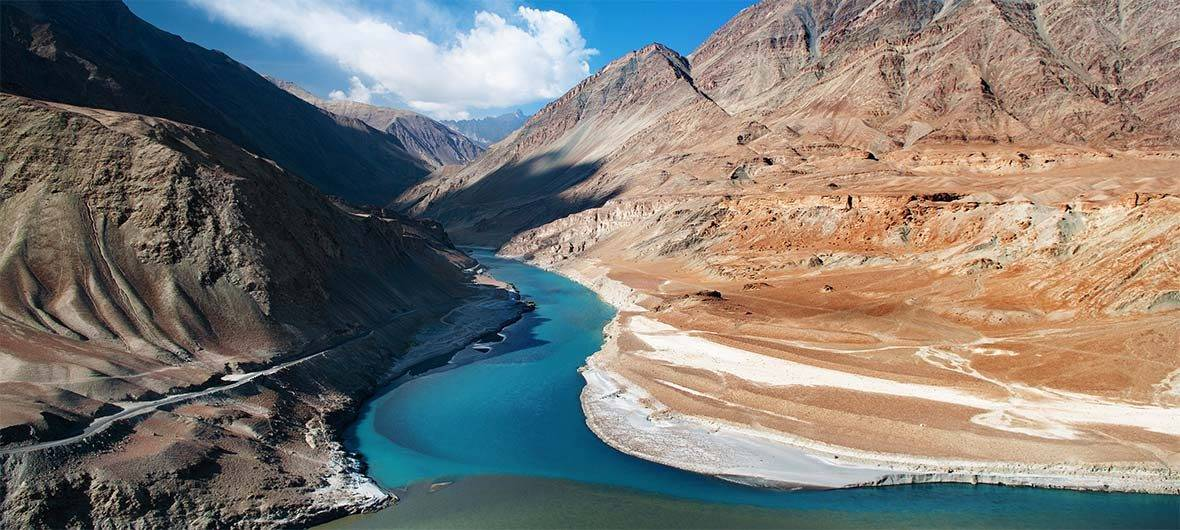 View of the Indus river