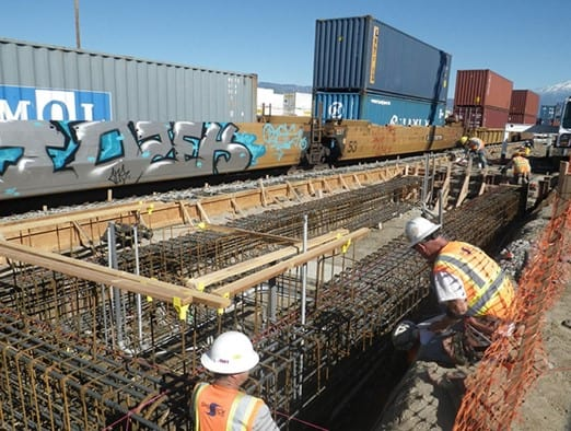 AECOM (legacy Shimmick) performed the Downtown San Bernardino Passenger Rail project, a one-mile extension of Metrolink infrastructure for extended commuter rail service from the San Bernardino Santa Fe Depot to the San Bernardino Transit Center.
