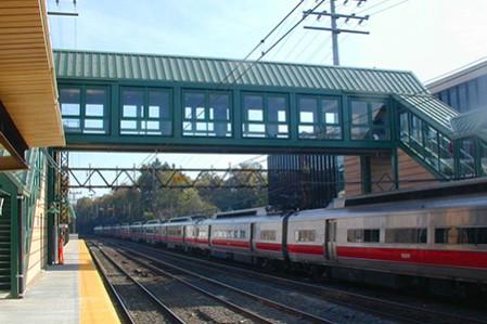Arch Street Bridge and Greenwich Train Station