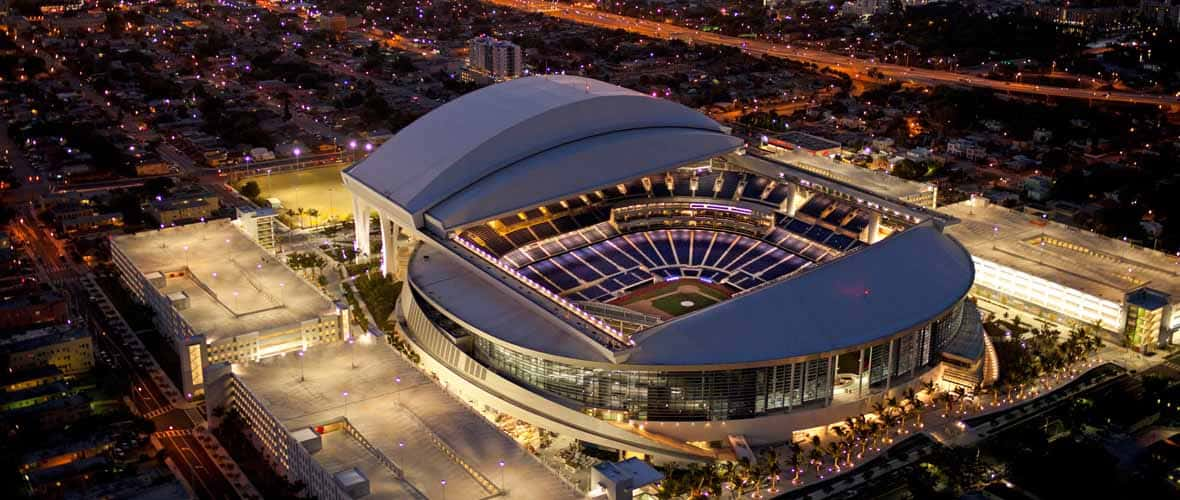AECOM Hunt, in a joint venture, served as construction manager/design assist for Marlins Park, home of MLB's Miami Marlins