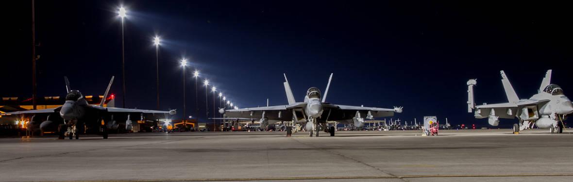 AECOM improved runway lighting at Nellis Air Force Base, Nevada