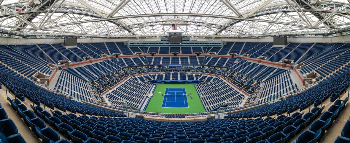 USTA Billie Jean King Stadium retractable roof